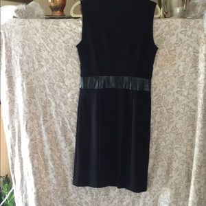 Kenneth Cole Black Dress size 6 leather trim